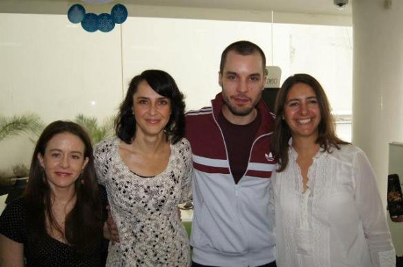 Alejandra Gollás, Irán Castillo, Lorenzo Balducci y la directora Erika Grediaga.