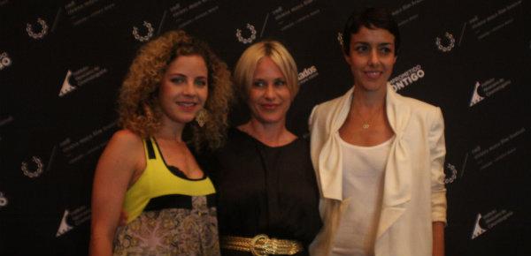 La directora del festival, Paula Chaurand, y las actrices Patricia Arquette y Cecilia Suárez