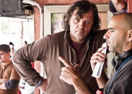 Kusturica y Trapero, durante el rodaje.