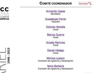 En la lista de integrantes del Comité coordinador de la AMACC que se puede ver en su sitio de internet está ausente el nombre y cargo del presidente